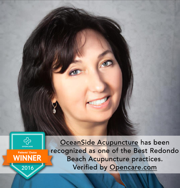 OceanSide Acupuncture has been recognized as one of the Best Redondo Beach Acupuncture practices. Verified by Opencare.com