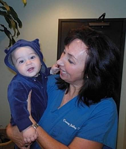 Tracey & Baby boy wearing blue